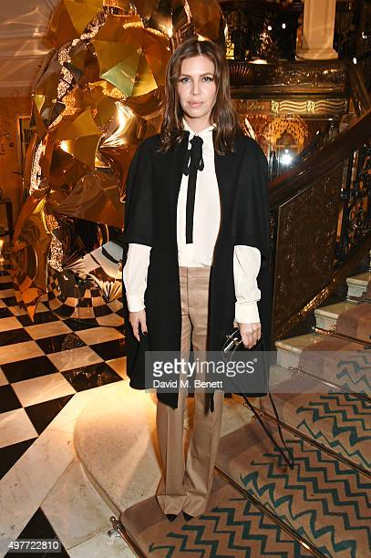 Dasha Zhukova attends the Claridge's Christmas Tree Party 2015 designed by Christopher Bailey for Burberry at Claridge's Hotel on November 18 2015 in...