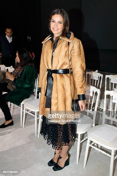 Dasha Zhukova attends the Giambattista Valli show as part of Paris Fashion Week Haute Couture Spring/Summer 2015 on January 26 2015 in Paris France