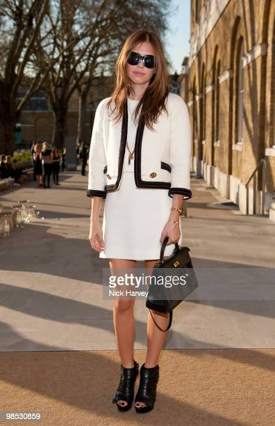 Dasha Zhukova attends the private viewing of 'Phillips de Pury BRIC' at the Saatchi Gallery on April 17 2010 in London England