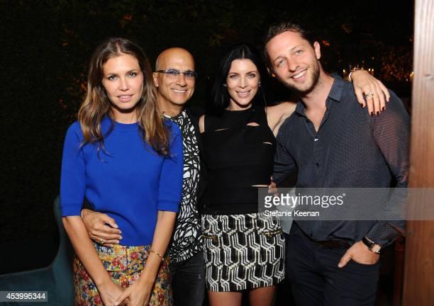 Dasha Zhukova Chairman of Interscope Geffen AM Jimmy Iovine model and designer Liberty Ross and fashion writer Derek Blasberg attend GENETIC x...