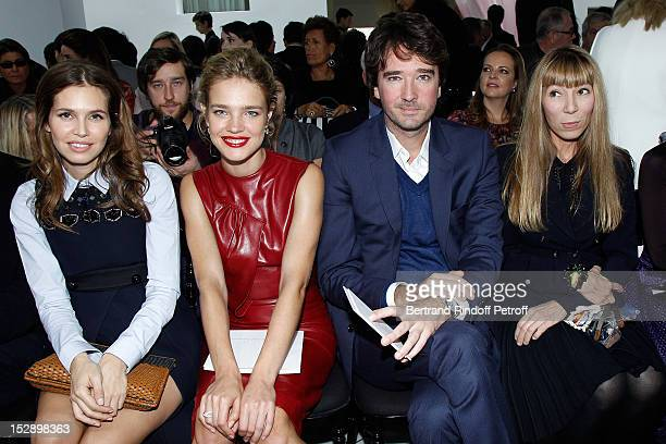 Dasha Zhukova Natalia Vodianova her boyfriend Antoine Arnault and Victoire de Castellane Dior Fine Jewelry Designer attend the Christian Dior Spring...
