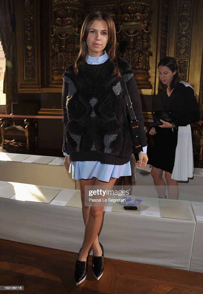 Dasha Zukova attends the Stella McCartney Spring / Summer 2013 show as part of Paris Fashion Week on October 1, 2012 in Paris, France.