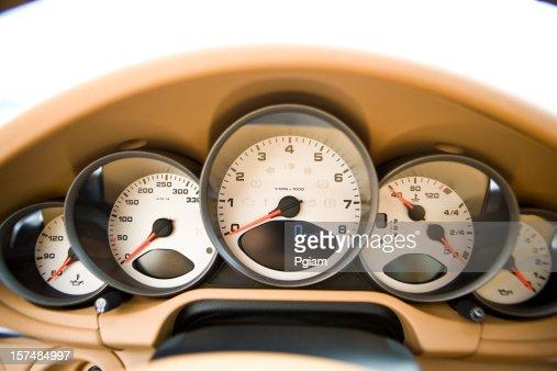Dashboard of a sports car