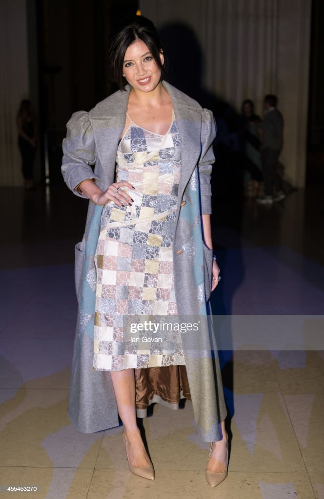 Dasiy Lowe attends the Jonathan Saunders show during London Fashion Week Spring Summer 2015 at on September 14 2014 in London England