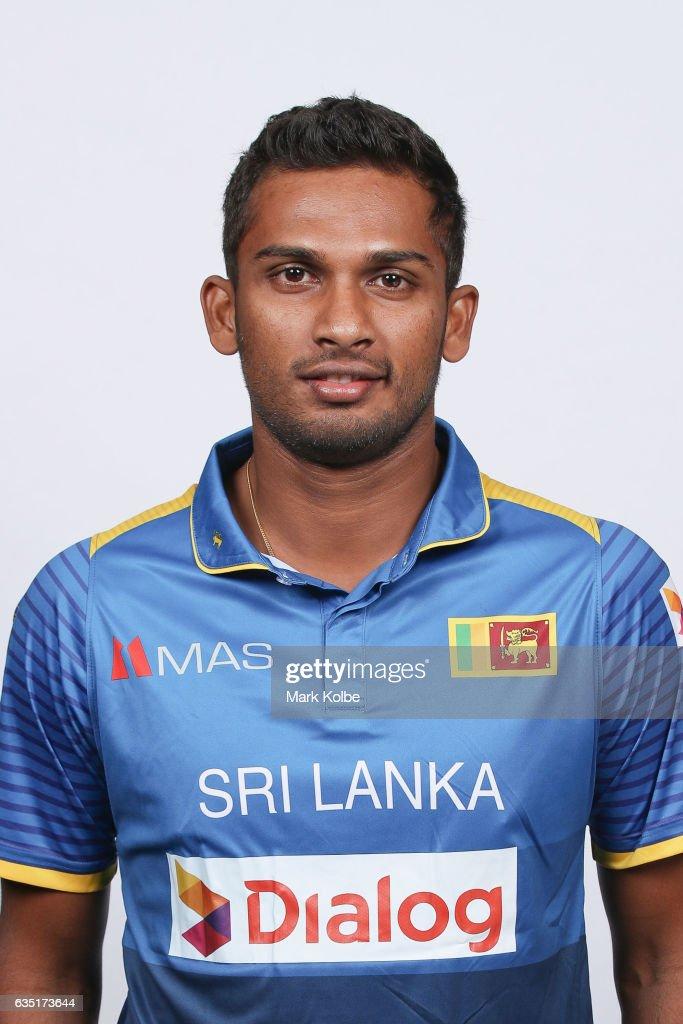 Dasun Shanaka of Sri Lanka poses during a Sri Lanka headshots session at the Realm Hotel on February 14, 2017 in Canberra, Australia.