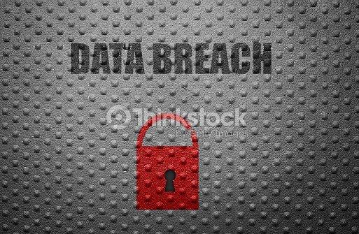 Data breach lock : Stock Photo