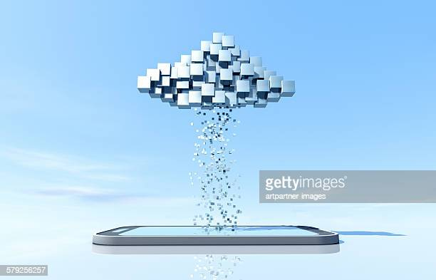 Data cloud with smartphone