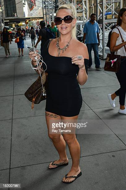 Data entry professional Lauren Odes walks in Midtown Manhattan on September 14 2012 in New York City Odes filed a discrimination complaint against a...