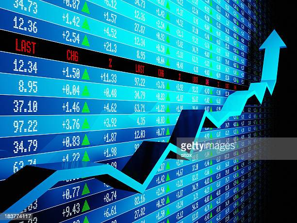 Data for the stock market rising up
