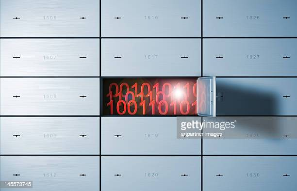 Data in an open safety deposit box or bank vault