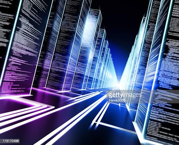 concept de stockage de données cyber