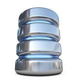 Database. Storage concept. 3D icon isolated on white background