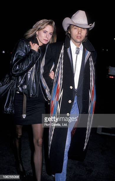date and Dwight Yoakam during Dwight Yoakam Sighting at Spago Restaurant December 14 1988 at Spago Restaurant in West Hollywood California United...