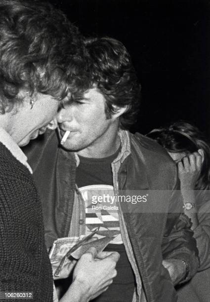 date and Richard Gere during Richard Gere Sighting at Le Dome Restaurant March 4 1983 at Le Dome Restaurant in Los Angeles California United States