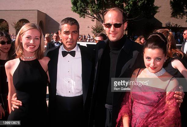 date George Clooney Anthony Edwards and Jeanine Lobell at the 48th Annual Primetime Emmy Awards Pasadena Civic Auditorium Pasadena