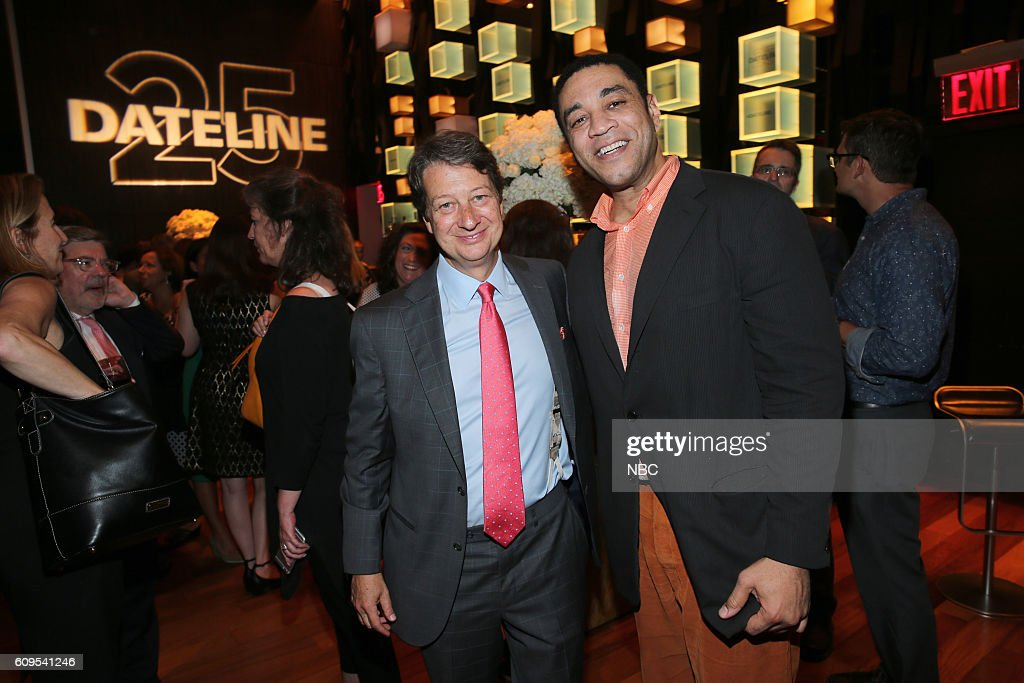 NBC -- Dateline 25th Anniversary Event -- Pictured: (l-r) President and Chief Executive Officer of WNET Neal Shapiro, 'The Blacklist' actor Harry Lennix --