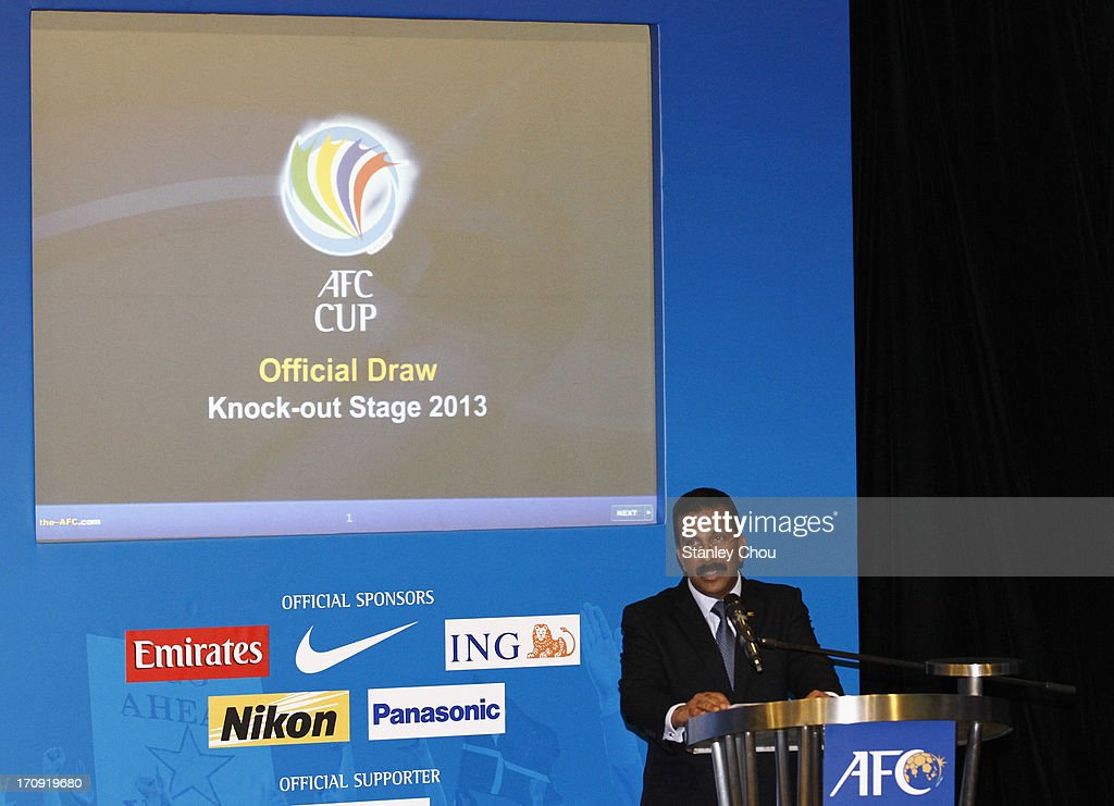 Dato' Alex Soosay, General Secretary of the Asian Football Confederation, speaks during the 2013 AFC Cup Quarter Finals Knock-out Stage Draw at the AFC House on June 20, 2013 in Kuala Lumpur, Malaysia.