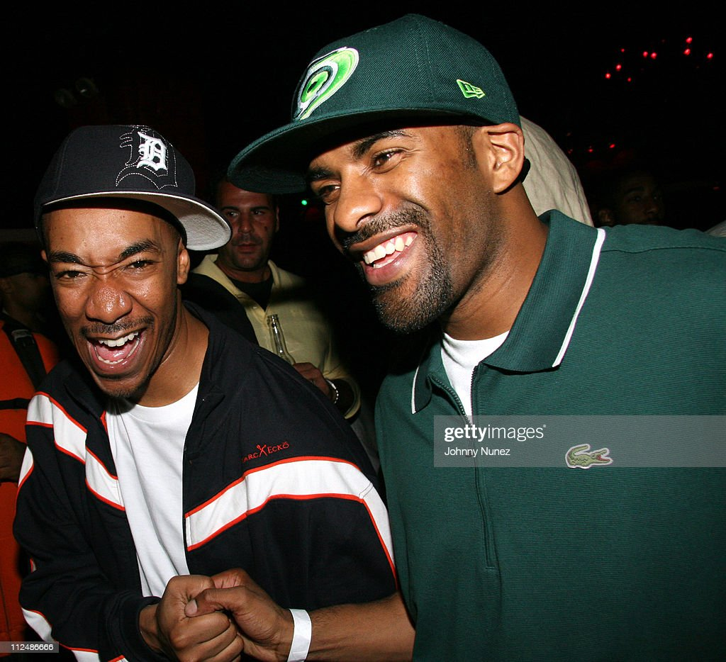 Datwon Thomas and DJ Clue during Shaquille O'Neal and 2K Sports Host the NBA 2K7 VIP Launch Party Inside at Home in New York City New York United...