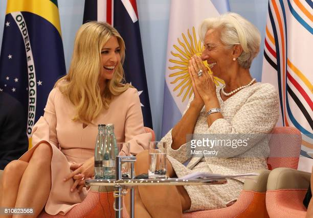 Daughter and advisor to US President Trump Ivanka Trump and Managing Director of the International Monetary Fund Christine Lagarde during the G20...