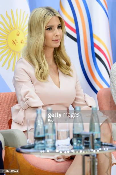 Daughter and advisor to US President Trump Ivanka Trump attends a panel discussion titled 'Launch Event Women's Entrepreneur Finance Initiative' on...