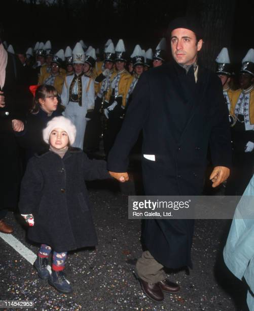 daughter and Andy Garcia during 69th Annual Macy's Thanksgiving Day Parade in New York City New York United States