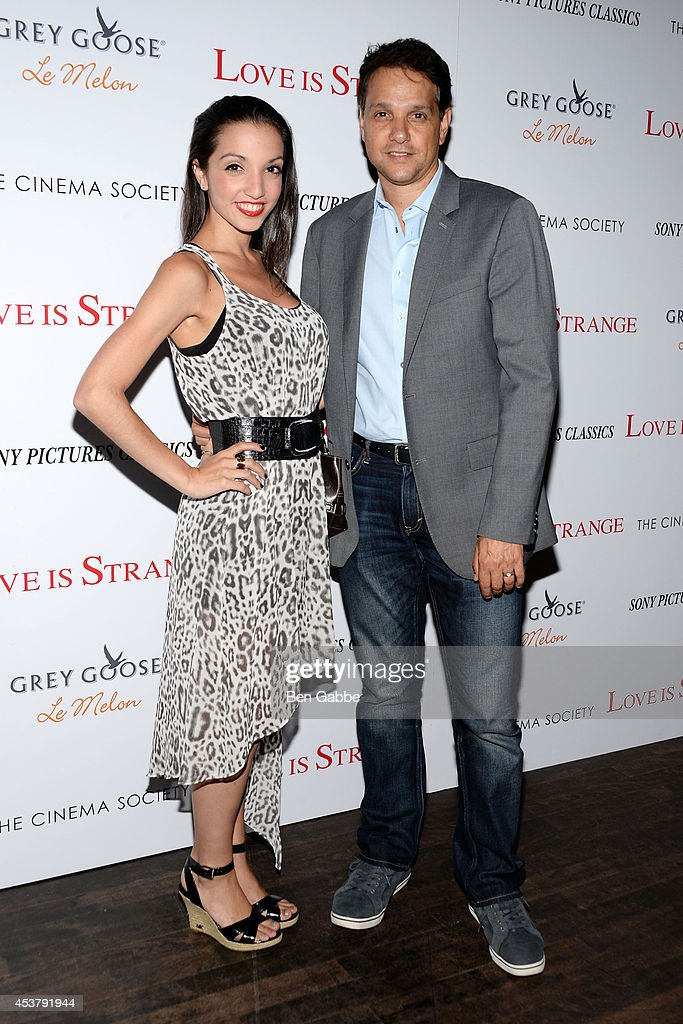 Daughter Julia Macchio (L) and actor Ralph Macchio attend the Sony Pictures Classics With The Cinema Society & Grey Goose screening of 'Love Is Strange' at Tribeca Grand Hotel on August 18, 2014 in New York City.