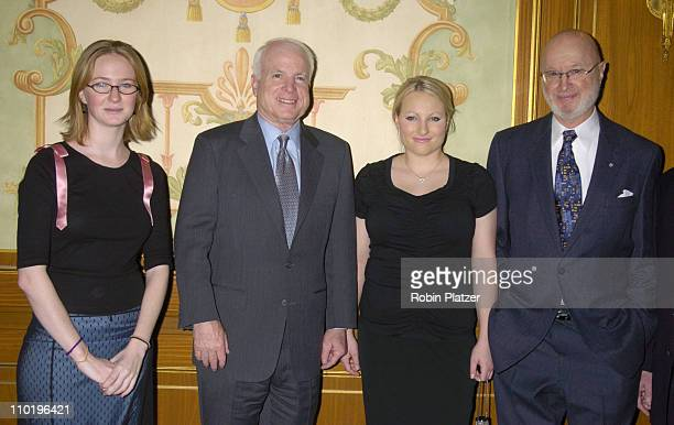 Daughter Meghan McCain Senator John McCain and Daughter Halley Feiffer and Jules Feiffer