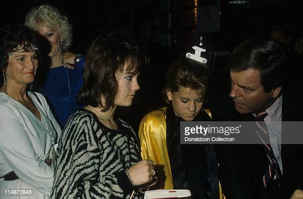 Daughter Natasha Gregson Wagner daughter Courtney Wagner and father and actor Robert Wagner pose for a portrait in 1986 in Los Angeles California