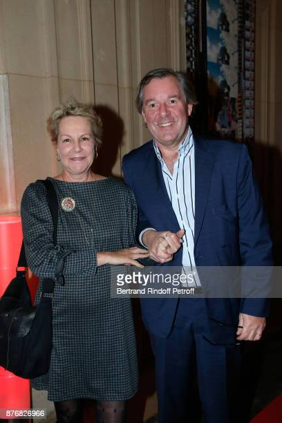Daughter of Gerard Philipe AnneMarie Philipe and her husband Jerome Garcin attend the Tribute to JeanClaude Brialy for the 10th anniversary of his...