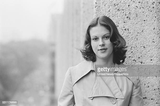Daughter of Hugh Hefner and executive at Playboy Enterprises Christie Hefner pictured in London on 29th October 1976