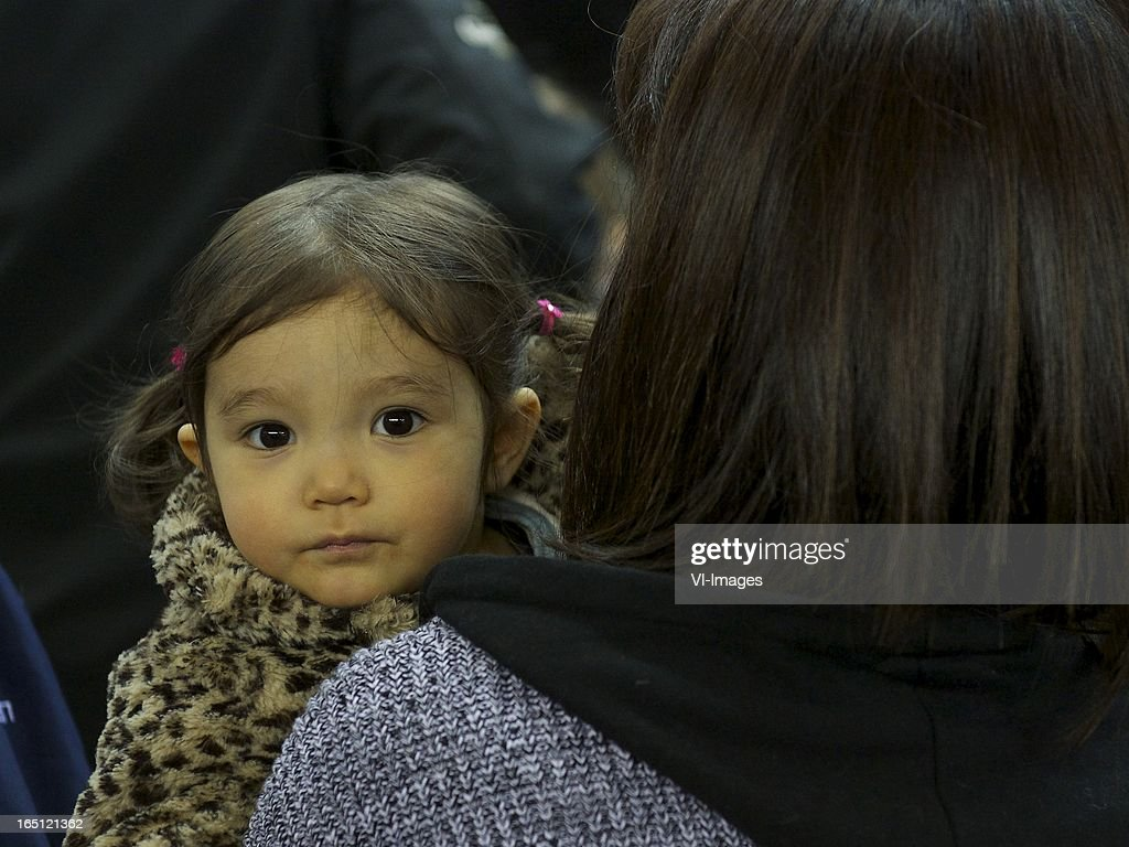 daughter of Mike Havenaar of Vitesse during the Dutch Eredivisie match between Vitesse Arnhem and PEC Zwolle at the Gelredome on march 31, 2013 in Arnhem, The Netherlands