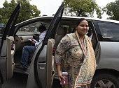 Daughter of Rashtriya Janta Dal President Lalu Prasad Yadav and Newly Member of Parliament for Rajya Sabha Misa Bharti arrives for the Parliament...