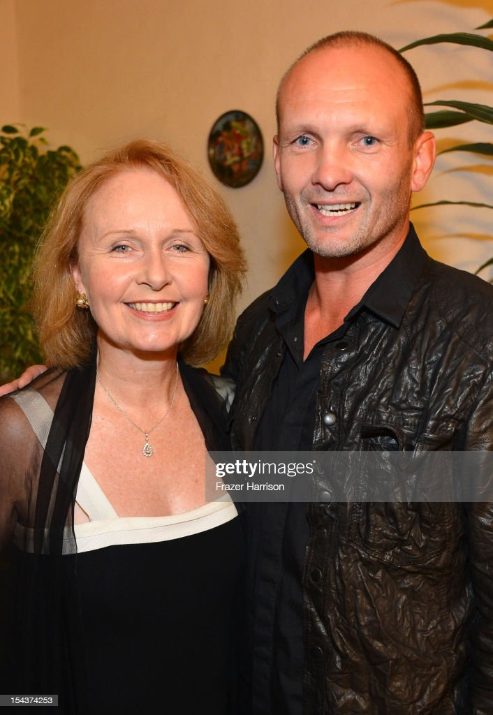Daughter of Richard Burton, Katie Burton and Andrew Howard attend Wales Celebrates the launch of 'The Richard Burton Diaries' hosted by The Welsh Government, Swansea University and Yale University Press held at the British Consul-General residence, Hancock Park on October 18, 2012 in Los Angeles, California.