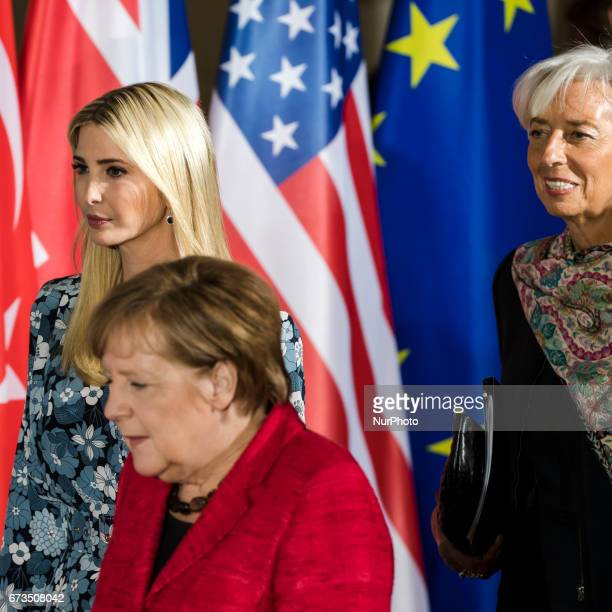 Daughter of US President Ivanka Trump German Chancellor Angela Merkel and Managing Director of the International Monetary Fund Christine Lagarde...