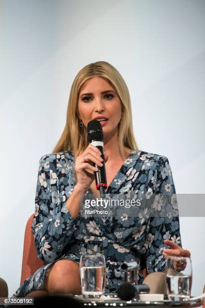 Daughter of US President Ivanka Trump is pictured during the Woman 20 Summit in Berlin Germany on April 25 2017 The event which is connected to the...