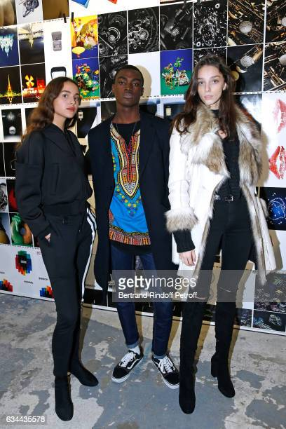 Daughter of Yannick Noah model Jenaye Noah Donaldson Obennebo and Larissa Marchiori attend the Launching of the Book 'Mocafico Numero' at Studio des...