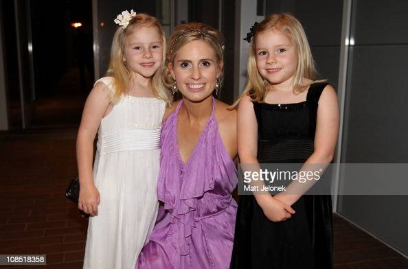 Daughter Rori Buckey Heath Ledger's sister Kate Ledger with daughter Scarlotte Buckey arrive on the first night of performances at the State Theatre...