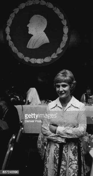 Daughter's Prerogative Mrs Barbara Henderson Mertian of Durango Colo stands in front of a walled silhouette of her father the late Robert Henderson...