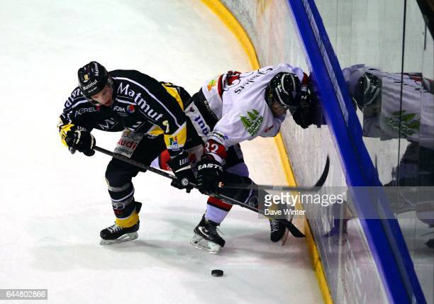 Daultan LEVEILLE / Cedric CUSTOSSE Hockey sur glace Rouen / Briancon 1/2Finale Coupe de France Photo Dave Winter / Icon Sport