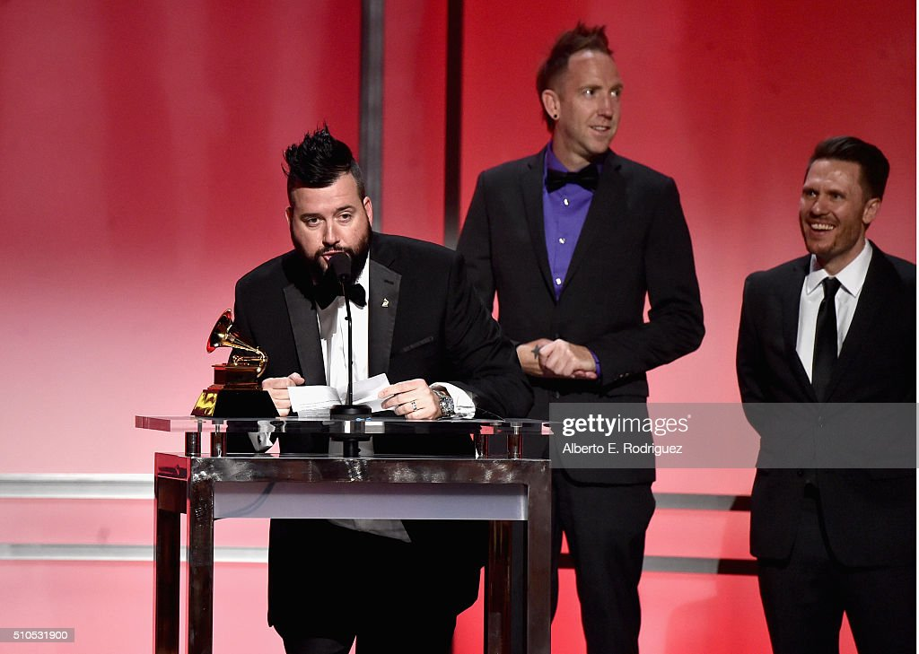 DJ Dave Audé accepts the award for Best Remixed Recording (Non-classical) onstage during the GRAMMY Pre-Telecast at The 58th GRAMMY Awards at Microsoft Theater on February 15, 2016 in Los Angeles, California.