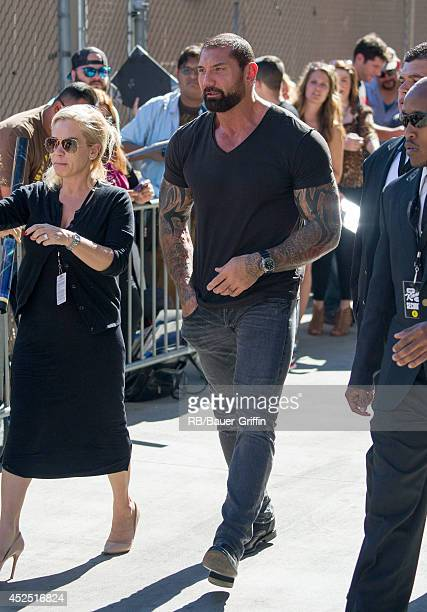 Dave Batista is seen at 'Jimmy Kimmel Live' on July 21 2014 in Los Angeles California