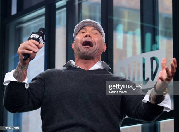 Dave Bautista appears to promote 'Guardians of the Galaxy Vol 2' during the BUILD Series at Build Studio on May 4 2017 in New York City