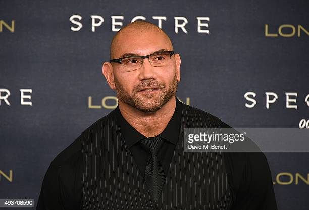Dave Bautista attends a photocall for 'Spectre' at Corinthia Hotel London on October 22 2015 in London England