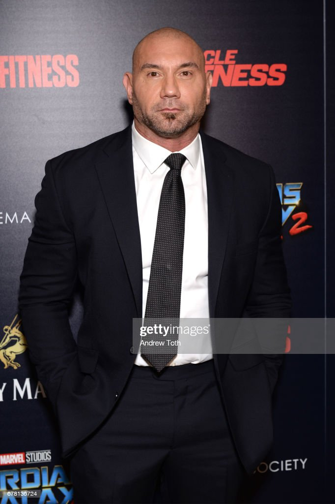 Dave Bautista attends a screening of Marvel Studios' 'Guardians of the Galaxy Vol. 2' hosted by The Cinema Society at the Whitby Hotel on May 3, 2017 in New York City.