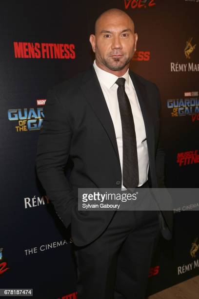 Dave Bautista attends The Cinema Society with Men's Fitness Muscle Fitness and Remy Martin host a screening of Marvel Studios' 'Guardians of the...