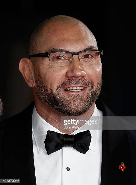 Dave Bautista attends the Royal Film Performance of 'Spectre' at Royal Albert Hall on October 26 2015 in London England