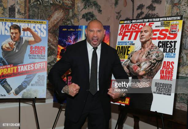 Dave Bautista attends the screening of 'Guardians of the Galaxy Vol 2' presented by Remy Martin at The Whitby Hotel on May 3 2017 in New York City