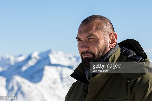 Dave Bautista poses at the photo call for the 24th Bond film 'Spectre' on January 7 2015 in Soelden Austria