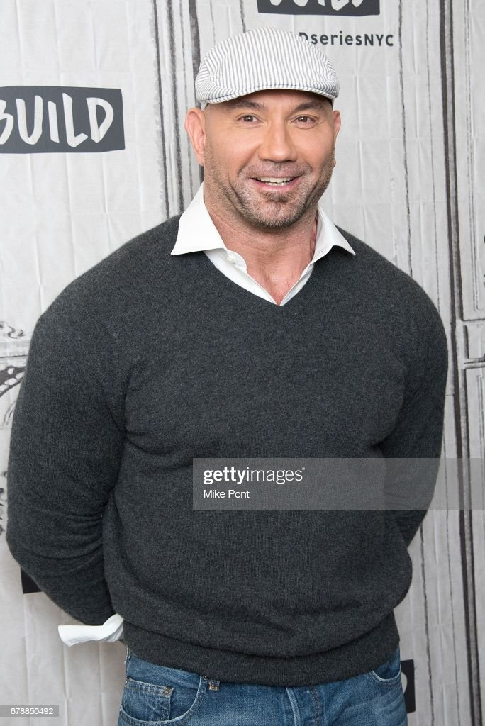 Dave Bautista visits Build Studio to discuss 'Guardians of the Galaxy Vol. 2' at Build Studio on May 4, 2017 in New York City.