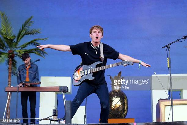 Dave Bayley and Edmund IrwinSinger of Glass Animals performs in concert during day two of the second weekend of Austin City Limits Music Festival at...